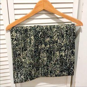 Michael Kors Pattern Black and Tan Infinity Scarf